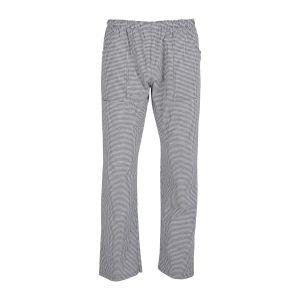 Παντελόνι με λάστιχο ψιλό ασπρόμαυρο καρώ
