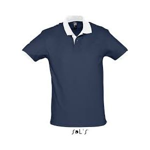 Polo Prince French Navy/White