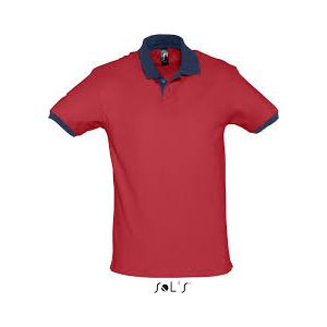 Polo Prince red-french navy