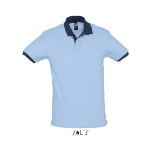 Polo Prince sky blue-french navy